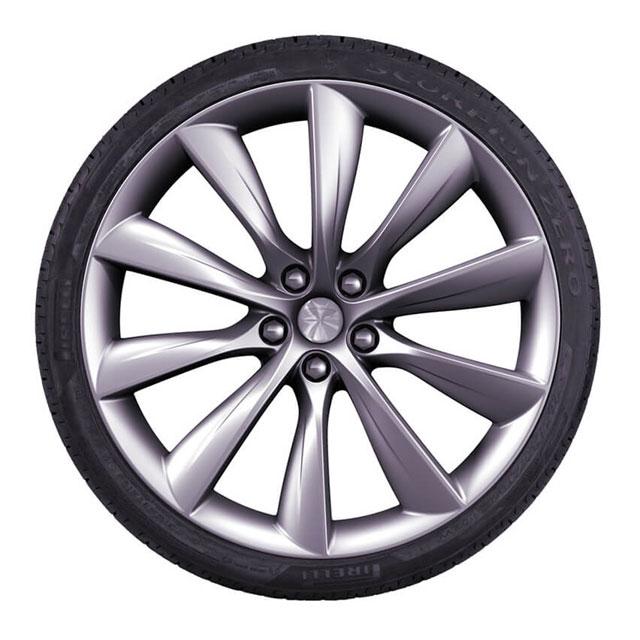 """特斯拉涡轮_Model X 22""""涡轮和倍耐力蝎子轮胎包装_车轮和轮胎_Model X_特斯拉 ..."""